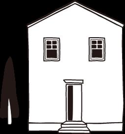 お家の線画イラスト